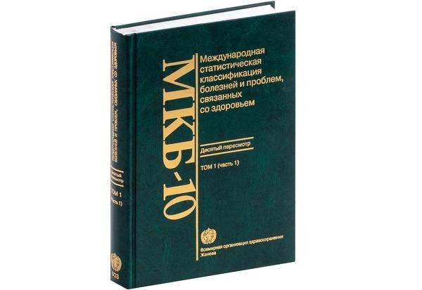 Классификатор МКБ-10 по кодам