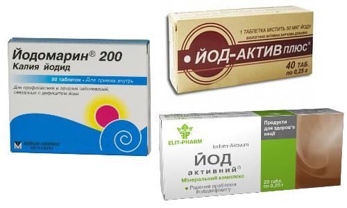 Препараты йода при дефиците