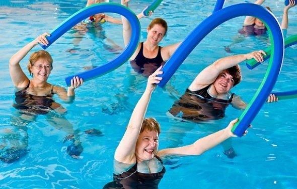 Занятия для гипертоников в бассейне