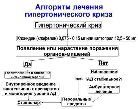 Схема лечения гипертонического криза